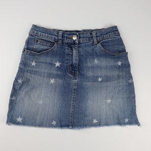 Retro Y2K fashion Angels size 8 denim skirt stars